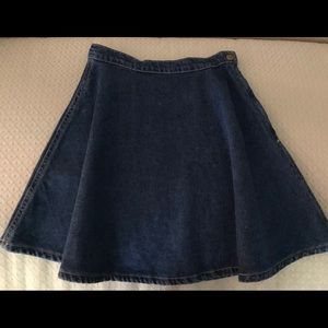 American Apparel Denim Mini Skirt